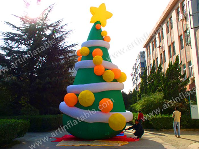 J 0011 High 8m Giant Inflatable Christmas Trees For Christmas Decoration Art Inflatable